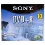 Sony (10DMR47L4) 16x DVD+R Jewel Case Storage Media (10 Pack)