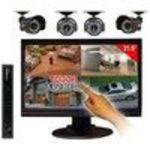 Lorex Edge LH328501C4T22B 8-Channel DVR and 21.5-Inch Touch Screen Monitor with Internet, 3G Mobile Viewing and 4 Security Cameras
