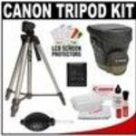 """Canon 59"""" Deluxe Photo/Video 200 Tripod with 3-Way Panhead & Canon Zoom Pack 1000 Holster Case + Acc..."""