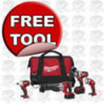 Milwaukee 2692-24 18-Volt Hammer-Drill, Impact Wrench, Sawzall Reciprocating Saw, and Worklight Combo Kit
