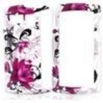 Sanyo Incognito 6760 Hard Plastic Case - Pink Flowers on White