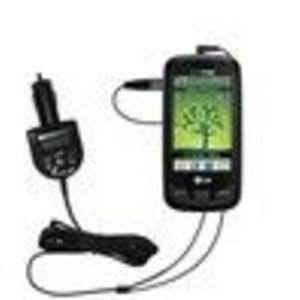 Gomadic 2nd Generation Audio FM Transmitter / Internet Music Adapter plus integrated Car Charger (FMTI4096) for the LG ...
