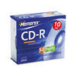Imation 10PK MEMOREX CDR 700MB-80MIN 52X W/ JC CD Media (04514) 52x CD-R Storage Media