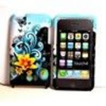 Blue Wave Butterfly Flower Design Snap on Hard Skin Shell Protector Faceplate Cover Case for Apple I...