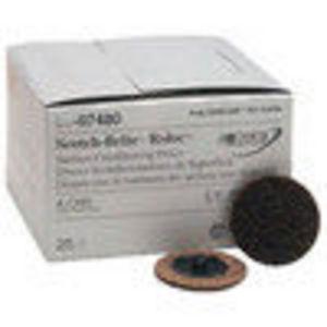 "3M 2"" Coarse Scotch Brite Roloc Surface Conditioning Discs 25 ct."