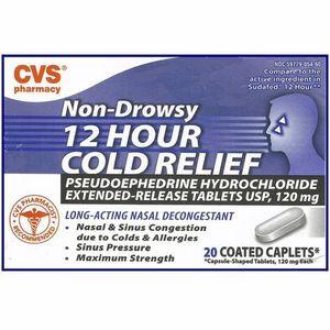 CVS Non-Drowsy 12 Hour Cold Relief
