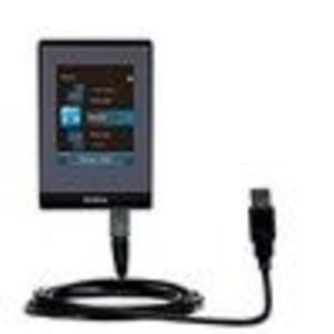 Gomadic Classic Straight USB Cable for the RCA SL5004 LYRA Slider Media Player with Power Hot Sync and Charg...