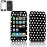 "Apple iPhone 3G ""PDA"" Black/White Polka Dot Design Protective Case + Free LiveMyLife Wristband"