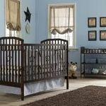 Nursery 101 Babies Room Basics Baby Crib and Changing Table Set, Dark Walnut