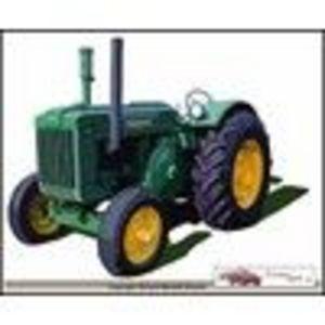 John Deere Model D Farm Tractor Canvas Art Print (John Deere)
