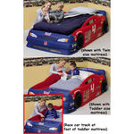 Step2 743400 Stock Car Convertible Bed