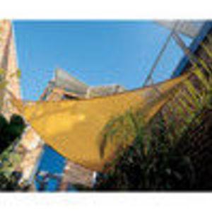 "Coolaroo 11'10"" Triangle Shade Sail with Hardware Kits, Desert Sand"