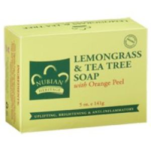 Nubian Heritage Lemongrass & Tea Tree Soap with Orange Peel