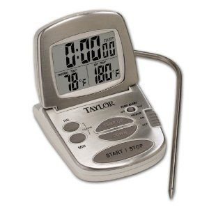 Taylor TruTemp Digital Cooking Thermometer with Probe and Timer