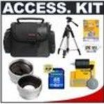 Sanyo Deluxe Accessory Kit with Carrying Case + 2x Telephoto Lens + 0.5x Wide Angle Lens + 4GB SDHC Memory... Lens Cleaning