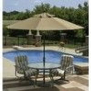 Catalina Market Umbrella (9' Octagon) - Stone Olefin ( Wave)