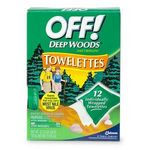 Off! Deep Woods Insect Repellent Towelettes