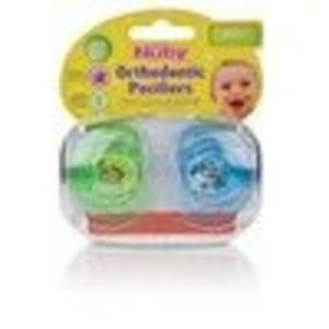 Nuby 2-Pack Prism Orthodontic Pacifiers, 0 - <3> Months