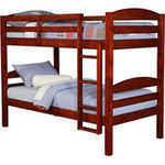 Mainstays Twin-Over-Twin Wood Bunk Bed, Cherry