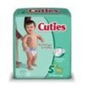 Cuties Jumbo Pack Diaper, Size 5, 108-Count