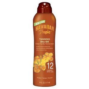 Hawaiian Tropic Tanning Dry Oil Clear Spray Sunscreen SPF 12