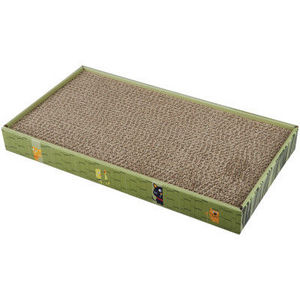 Grreat Choice Double-Wide Corrugated Cat Scratcher