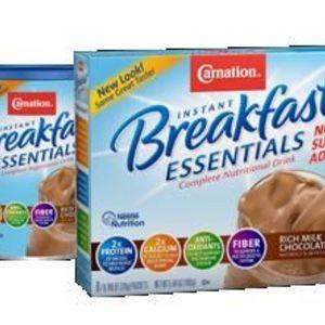 Carnation Instant Breakfast Essentials (no sugar added) Rich Milk Chocolate Powder Drink Mix