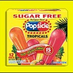 Popsicle Brand Sugar Free Tropicals Popsicles