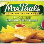 Mrs. Paul's Crunchy Fish Fillets 90 Calories