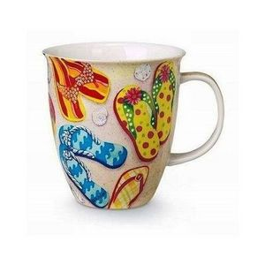 Downeast Concepts Cape Shore Summertime Summer Flip Flop Sandal Coffee Latte Mug