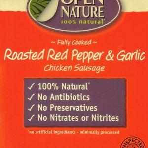 Open Nature Roasted Red Pepper & Garlic Chicken Sausage