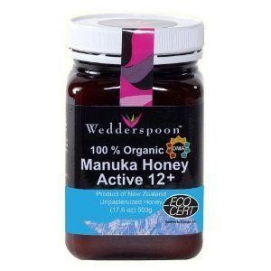 Wedderspoon Raw Organic Manuka Honey Active 12+