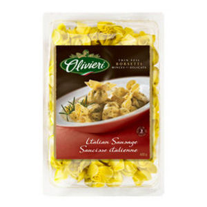 Olivieri Gourmet Pasta Italian Sausage Borsetti