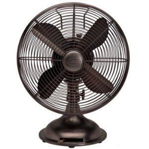 "Hunter Century 12"" Black Oscillating Desk Fan"