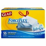 Glad ForceFlex Odorshield with Febreze Freshness Trash Bags