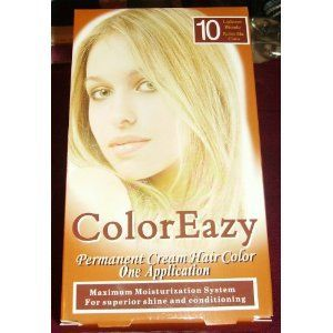 Color Eazy Permanent Cream Hair Color - Lightest Blonde