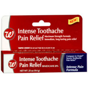 Walgreens Intense Toothache Pain Relief