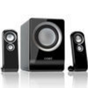 Coby 100-Watt 2.1-Channel Multimedia Speaker System for iPod and MP3 Players (Black)