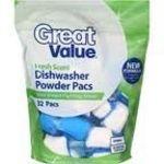 Great Value Dishwasher Powder Pacs