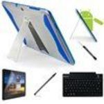 Samsung Blue Protection Smart Slim and Durable Crystal Design Hard Skin Cover Case with Quality Flip Stand -...