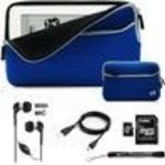 Blue Trim with Black Premium Neoprene Cover Glove Carrying Case with extra pocket for BeBook Neo Boo...