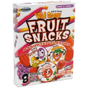 Global Brands - Wild Crazy Fruit Snacks, Assorted Flavors