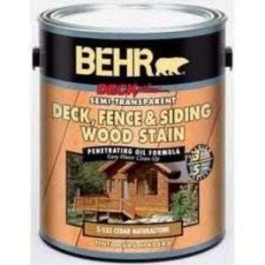 Behr Solid Color Deck, Fence & Siding Wood Stain