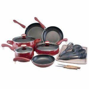 Paula Deen Signature Porcelain 17-Piece Cookware Set
