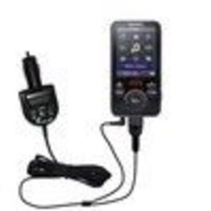 Gomadic 2nd Generation Audio FM Transmitter plus integrated Car Charger (FMT2345G2) for the Sony Walkman NWZ-E436F with ...
