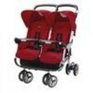 Peg Perego ARIA TWIN 60-40 Standard Stroller - Geranium