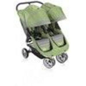 Baby Jogger CITY MINI DOUBLE Stroller - Green/Gray