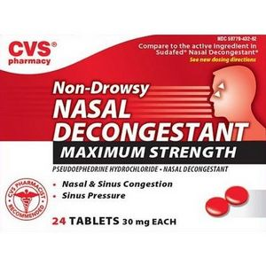 CVS Nasal Decongestant Non-Drowsy Maximum Strength Tablets