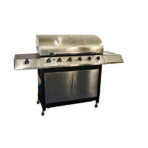 Char Broil K6B 6-Burner 65,000 BTU Gas Grill, with Sideburner