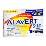 Alavert D-12 Allergy & Sinus Extended Release Tablets